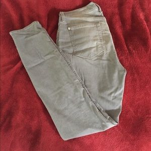 7 For All Mankind Grey Ankle Skinny Jeans